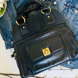 Banana Republic Genuine Last Black Satchel Handbag